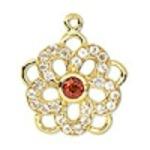 garnet pendant from Fire Mountain Gems